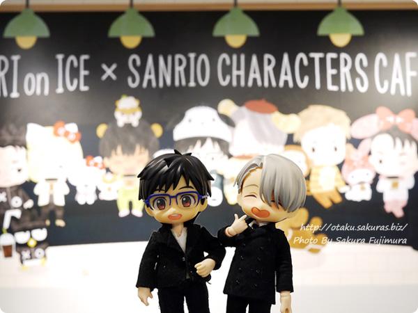 ユーリ!!! on ICE×サンリオコラボカフェ「Yuri on Ice×Sanrio characters Cafe」第2弾 一階 YOIオビツろいど ヴィクトル&勇利 その1