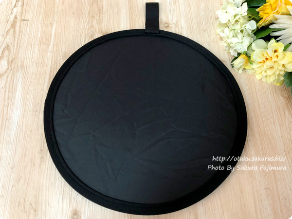 HAKUBA(ハクバ 撮影補助用品 レフ板プロ 12インチ 表面シルバー/裏面ブラック 裏面ブラック全体