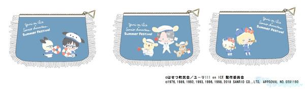 「ユーリ!!! on ICE×サンリオキャラクターズ in KIDDYLAND」フェア先行販売 ティッシュポーチ 3種