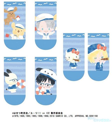 「ユーリ!!! on ICE×サンリオキャラクターズ in KIDDYLAND」フェア先行販売 ソックス 3種