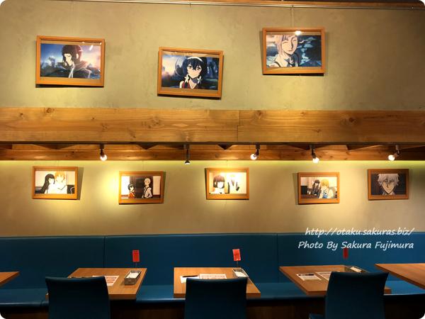 文豪ストレイドッグス DEAD APPLE×明神カフェのコラボカフェ 店内その1