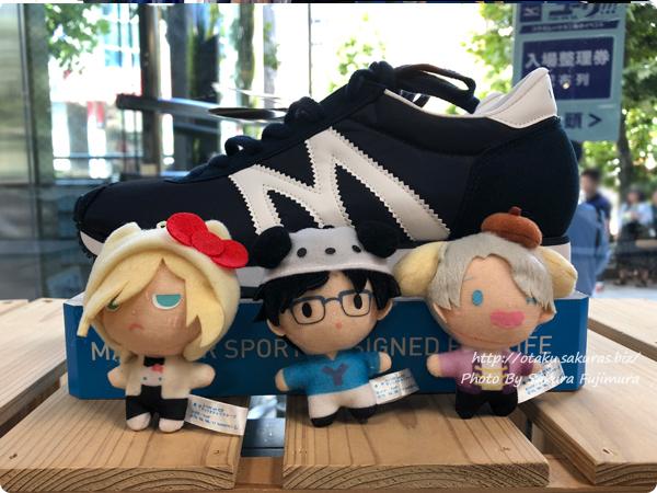 「ミズノ・ユーリ!!! on ICE コラボレーション展示イベント」東京会場 各売り場にも紛れるぬいたち