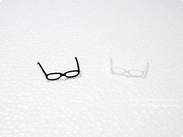 「アゾン 1/6サイズ マテリアルパーツ メガネ」ねんどろいどに使ったあとはちょっと変形するよ