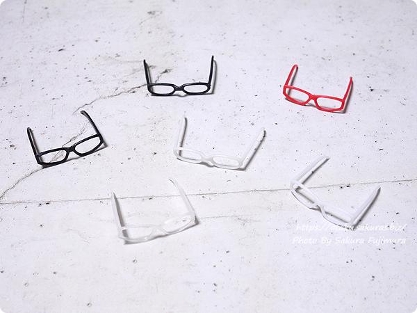 買ったアゾンインターナショナル『アゾン 1/6サイズ マテリアルパーツ メガネset』『アゾン 1/6サイズ マテリアルパーツ メガネsetⅡ』たち