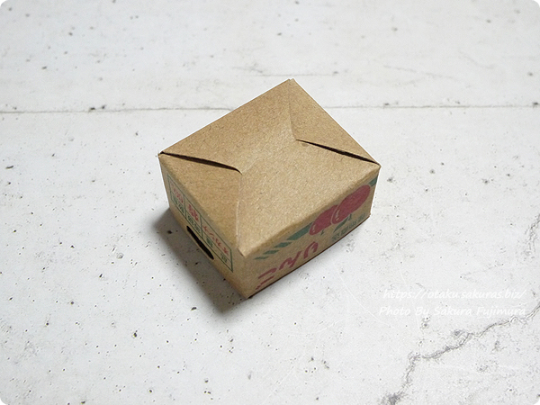 100円ショップCan☆Do(キャンドゥ)「箱つき付箋りんご」ダンボール組み立て