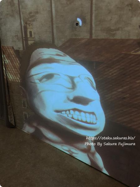 アニメ原画展「進撃の巨人 ANIMATION GALLERY」東京会場 巨人化体験コーナーのわたしの巨人