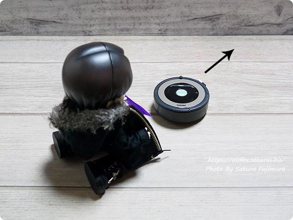雑誌「DIME(ダイム)2018年12月号」付録ロボット掃除機iRobotルンバ型メジャー オビツろいど(オビツ11)サイズ比較 その2