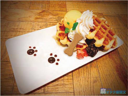 """映画『PSYCHO-PASS サイコパス Sinners of the System』コラボカフェ """"GINO THE CAFE"""" ダイムのワッフルプレート 1,200円"""