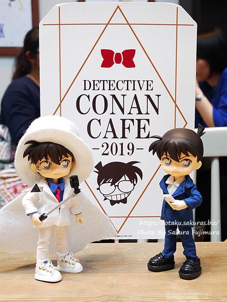 名探偵コナンカフェ2019怪盗キッドウィークのコラボカフェ オビツろいど工藤新一 オビツろいど怪盗キッドと行ってきた