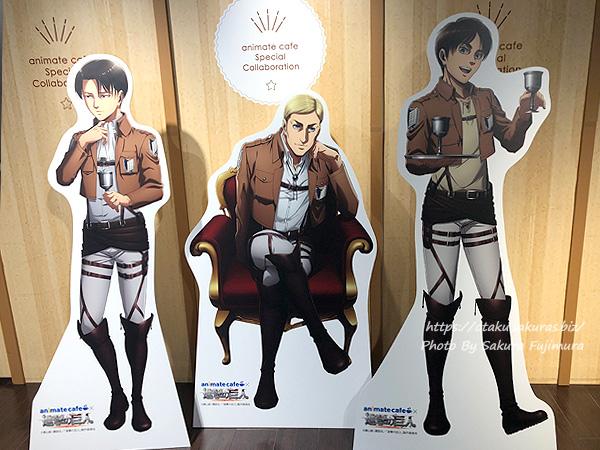 進撃の巨人Season 3 Part.2×アニメイトカフェ池袋2号店コラボカフェ 店内の様子その3