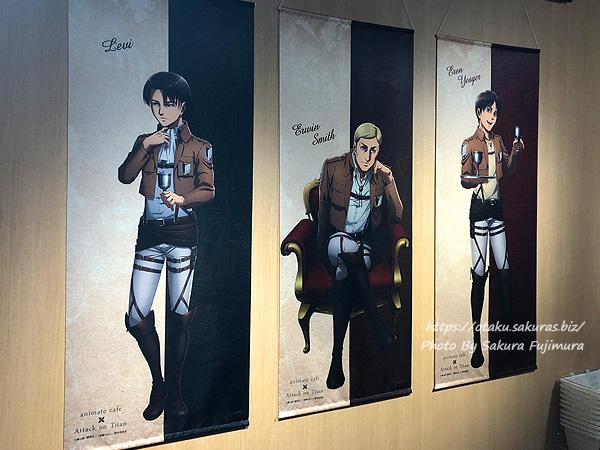 進撃の巨人Season 3 Part.2×アニメイトカフェ池袋2号店コラボカフェ 店内の様子 その1