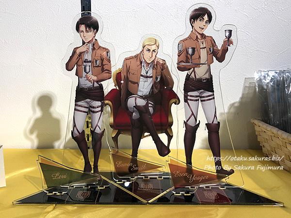 進撃の巨人Season 3 Part.2×アニメイトカフェ池袋2号店コラボカフェ 超大型アクリルスタンドフィギュア