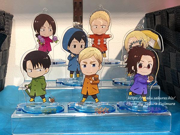 進撃の巨人Season 3 Part.2×アニメイトカフェ池袋2号店コラボカフェ トレーディングアクリルスタンドキーホルダダー