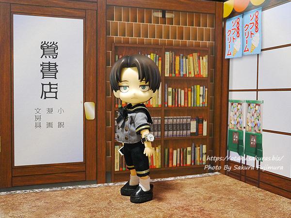 100円ショップ・Can☆Do(キャンドゥ) No.30327 02ウッドクラフト背景ボード商店街 書店