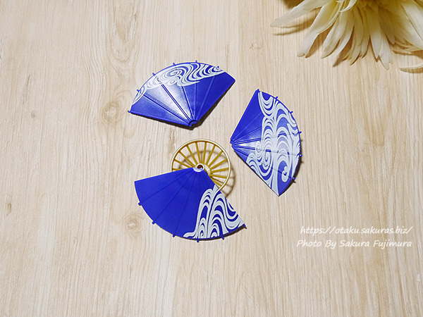 SO-TA 1/12スケール「和傘」ガチャガチャ 光淋波(こうりんなみ) パーツを組み立てる
