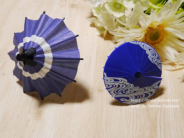 ガチャガチャ タカラトミーアーツ「ガチャぶんのいちシリーズ 和傘」とSO-TA 1/12スケール「和傘」はフィギュアやドール撮影にぴったり
