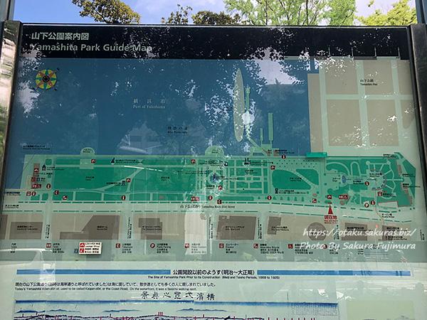 横浜 山下公園案内図