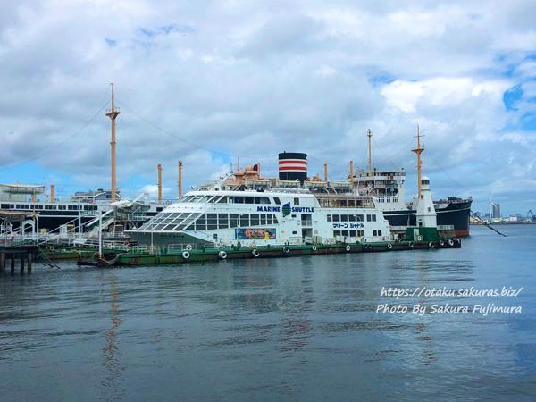 山下公園 港内観光船ターミナルから見える船