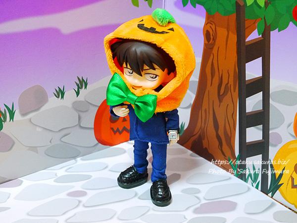 100円ショップ セリア ハロウィン2020 ハロウィンかぼちゃ帽子着画(オビツ11ボディのオビツろいど)