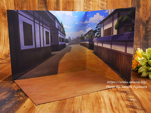 【100均キャンドゥ】No.33791 02ウッドクラフト モダニズム 背景ボード 市街戦 外面 全体